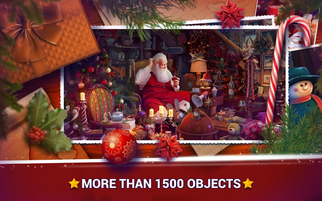 3-Hidden Objects Christmas – Holiday Puzzle Game