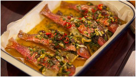 Pomidorlu Barbunya Balığı