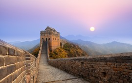 Great Wall of China Sunrise