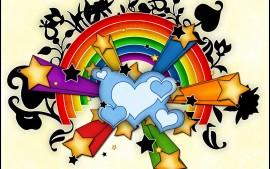 Hearts Stars Rainbow