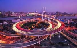 Nanpu Bridge Huangpu River...